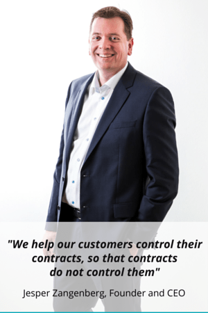 -We help our customers control their contracts so that contracts do not control them- - Jesper Zangenberg Founder and CEO (2)