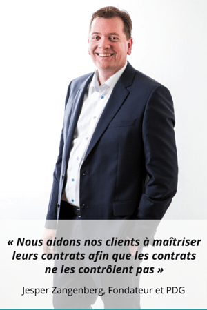 French- We help our customers control their contracts so that contracts do not control them- - Jesper Zangenberg Founder and CEO